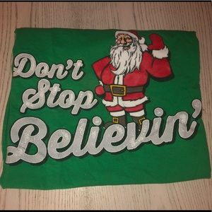 "Other - UNISEX ""DONT STOP BELIEVING"" SANTA TOP"
